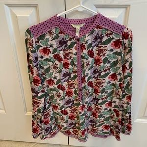 Size Medium Matilda Jane Floral Blouse